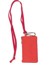 Petit portefeuille à bride BOTH Paris en coloris Red