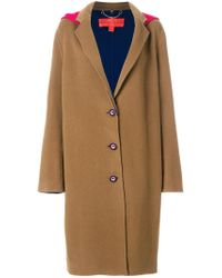 Tommy Hilfiger - Brown Double Face Wool Coat - Lyst