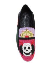 Alexander McQueen - Multicolor Woven Skull Loafers - Lyst