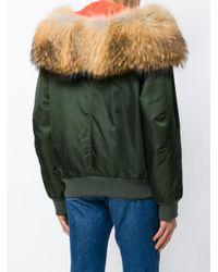 Mr & Mrs Italy Green Detachable Hood Bomber Jacket