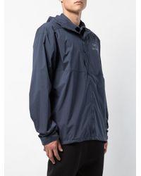 メンズ Arc'teryx Logo Wind Breaker Jacket Blue