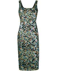 AlexaChung Black Sequin Embroidered Dress