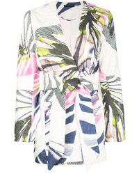Giacca Botanical Palm con motivo jacquard di Natori in Multicolor