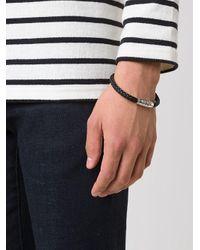 Tateossian Black Braided Bracelet for men