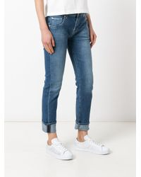7 For All Mankind - Blue Light-wash Slim-fit Jeans - Lyst