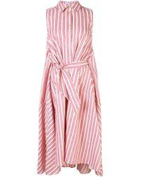 Palmer//Harding ストライプ シャツドレス Pink
