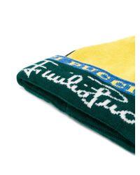 Шапка Бини С Логотипом Вязки Интарсия Emilio Pucci, цвет: Multicolor
