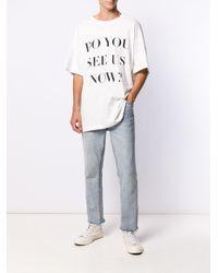 メンズ BOTTER スローガン Tシャツ White