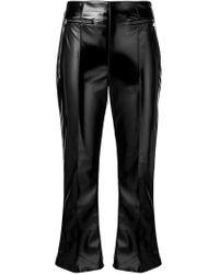 Виниловые Брюки Elisabetta Franchi, цвет: Black