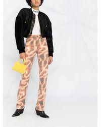 Versace Jeans クロップド ボンバージャケット Black