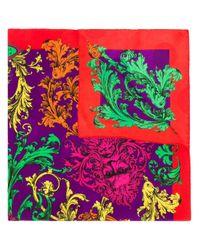 Foulard à fleurs Versace Pre-Owned en coloris Purple