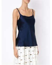 Gloria Coelho Blue Thin Straps Blouse