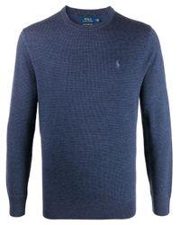 メンズ Polo Ralph Lauren ウール プルオーバー Blue