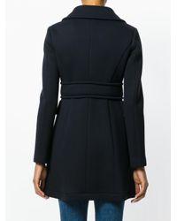 Herno - Blue Zipped Coat - Lyst