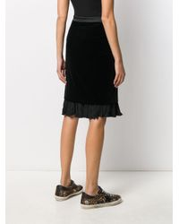 Бархатная Юбка Karl Из Коллаборации С Carine Karl Lagerfeld, цвет: Black
