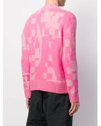 Maglione con motivo geometrico di Iceberg in Pink da Uomo