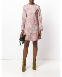 Etro - Pink Paisley Shift Dress - Lyst