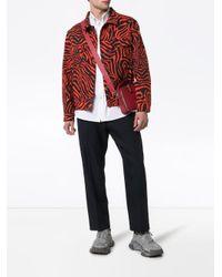 メンズ CALVIN KLEIN 205W39NYC Zebra デニムジャケット Red