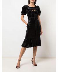 Brock Collection Pauletta ベルベット ドレス Black