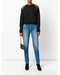 Saint Laurent - Blue Tapered Slim Fit Jeans - Lyst