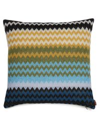 Humbert geometric-pattern cushion di Missoni in Blue