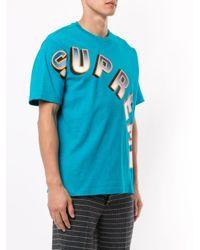 メンズ Supreme グラデーション Tシャツ Blue