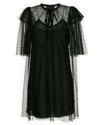 Vestido Dark Squares Karen Walker de color Black