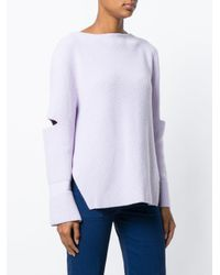 Stella McCartney - Purple Cut-out Detail Jumper - Lyst