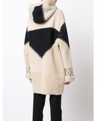 Prabal Gurung - Multicolor Studded Shearling Coat - Lyst