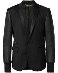 Philipp Plein Blazer Met Enkele Rij Knopen in het Black voor heren