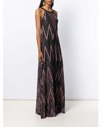 Robe longue à effet métallisé M Missoni en coloris Black