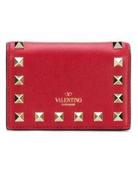 Valentino Garavani Red Valentino Garavani Compact Rockstud Wallet