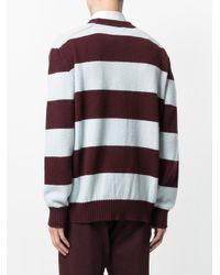 Laneus - Brown Striped Knit Jumper for Men - Lyst