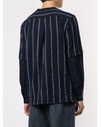 メンズ Sacai ストライプ セーター Blue