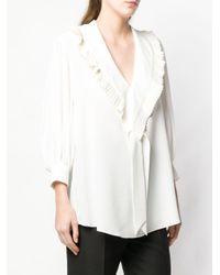 Блузка С Оборками Alexander McQueen, цвет: White