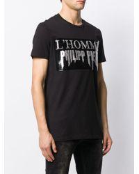 Philipp Plein T-Shirt mit Strass-Logo in Black für Herren