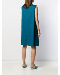 Sleeveless midi dress di Gianluca Capannolo in Blue