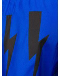 Costume da bagno con stampa di Neil Barrett in Blue da Uomo