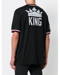Dolce & Gabbana - Black 'King' T-Shirt for Men - Lyst