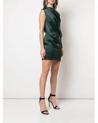 Michelle Mason ワンショルダーミニドレス Green