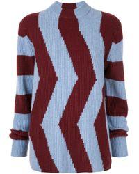 Приталенный Свитер В Стиле Колор-блок Calvin Klein, цвет: Blue