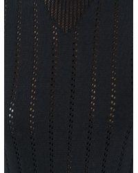 A.P.C. - Black 'annabelle' Pointelle-knit Sweater - Lyst