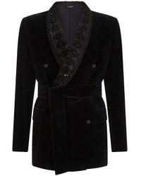 メンズ Dolce & Gabbana ベルテッド ジャケット Black