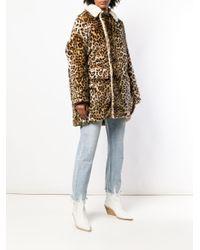 R13 Multicolor Leopard Print Oversized Coat