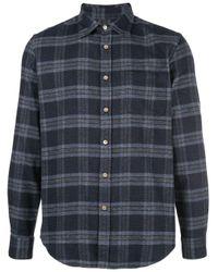 Portuguese Flannel Hemd mit Karomuster in Blue für Herren