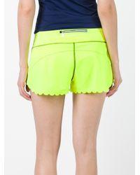 Monreal London | Green Scalloped Trim Shorts | Lyst