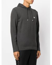 Les Hommes | Gray Classic Drawstring Hoodie for Men | Lyst