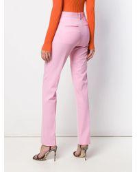 Pantaloni slim di Victoria Beckham in Pink