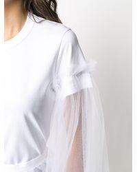 Comme des Garçons チュールスリーブ Tシャツ White