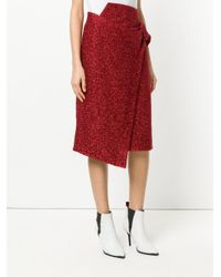 Petar Petrov - Red High Waisted Belted Skirt - Lyst